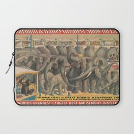 Illustrated Circus Poster Laptop Sleeve
