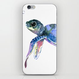Sea Turtle, children artwork Illustration iPhone Skin