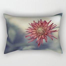 Red Dahlia Rectangular Pillow