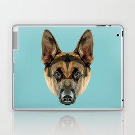 German Shepherd // Blue Laptop & iPad Skin