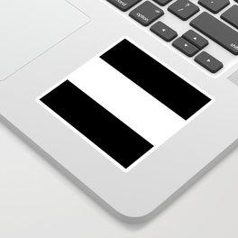 Black and white stripes Art Sticker