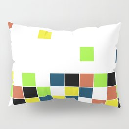 Retro Falling Blocks Tile Pattern - Digital Illustration - Graphic Design Pillow Sham