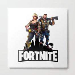 Fortnite GG Metal Print