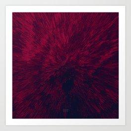 Bold Burst in Red Art Print