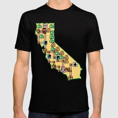 Super California Black MEDIUM Mens Fitted Tee