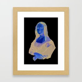 Triangled Mona Lisa Framed Art Print