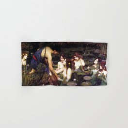 Hylas and the Nymphs,  John William Waterhouse Hand & Bath Towel