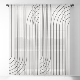 Minimal Line Curvature I Sheer Curtain