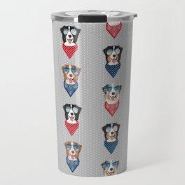 Australian Shepherd summer sunglasses bandana pure breed dog gifts Travel Mug