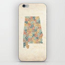 Alabama by County iPhone Skin