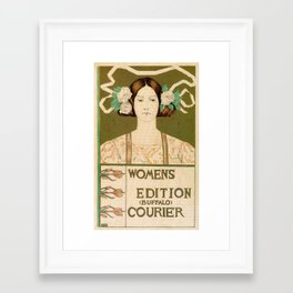 1895 Buffalo Courier for women  New York Framed Art Print