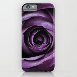 Purple Rose Decorative Flower iPhone Case