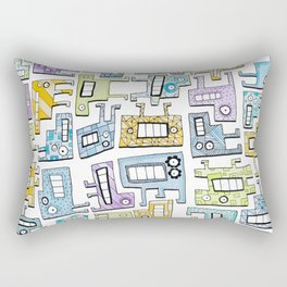 Pastel Tetris Monsters Rectangular Pillow