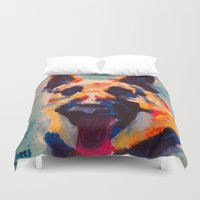 german Duvet Covers featuring German Shepherd by Heather Hartley