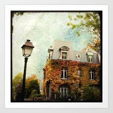 Autumnal Montmartre Art Print