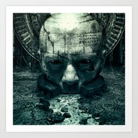 prometheus Art Prints featuring Prometheus by dracorubio