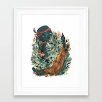 hunter Framed Art Prints featuring Hunter by pam wishbow