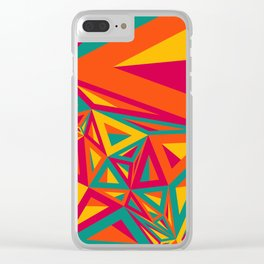 Abstract Triangulated Pattern Clear iPhone Case