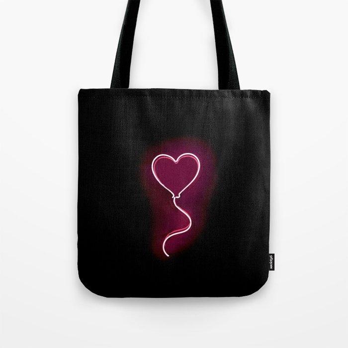 Balloon Heart (Neon) Tote Bag