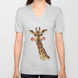 Girafe de Noël Unisex V-Neck