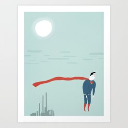 the loneliest man in metropolis  Art Print
