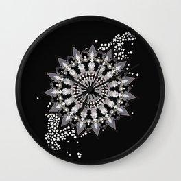 Wheel of Blossoms Wall Clock