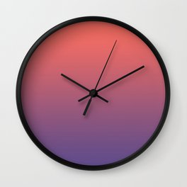 Living Coral Ultra Violet Gradient Pattern Wall Clock