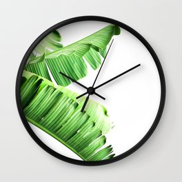 Banana Tree Palm Leaf Wall Clock