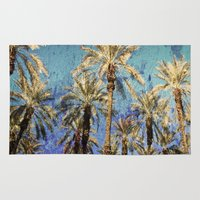 palm trees Area & Throw Rugs featuring Palm Trees by Loveurstyle