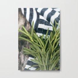 Rosemary Stripe Metal Print