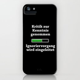 Criticism Noted iPhone Case