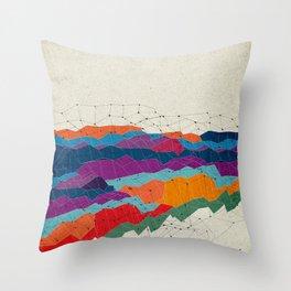 Landscape on Mars Throw Pillow