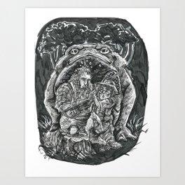 Inktober 2017: Toad Hunters Art Print