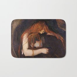 Vampire by Edvard Munch Bath Mat