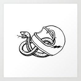 vipera b/w Art Print