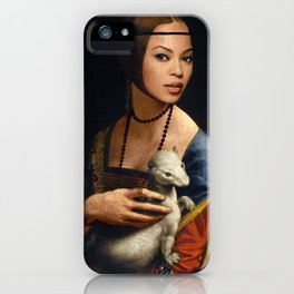 Bey Plays with the Family Ferret iPhone Case