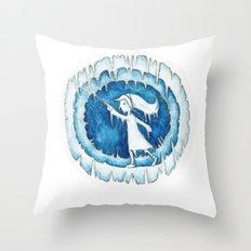 Frozen Girl Plays Yo-Yo Throw Pillow