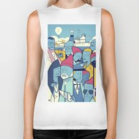 steve zissou Biker Tanks featuring The Life Acquatic with Steve Zissou by Ale Giorgini