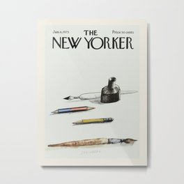 """Cover of """" The new Yorker"""" magazine.  Jan. 6 1975. Metal Print"""