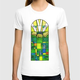 Abstract, qubism, square, Resurrection, Easter Sunday, tomb, Jesus, Christ T-shirt