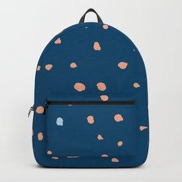 Dark blue deer dots pattern Backpack