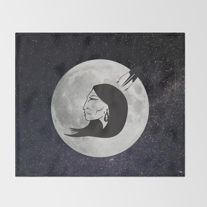 Grandmother Moon Throw Blanket By Reclaimyourpower Society40 Cool Grandmother Throw Blanket