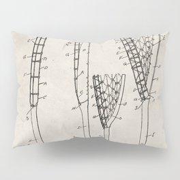 Lacrosse Stick Patent - Lacrosse Player Art - Antique Pillow Sham