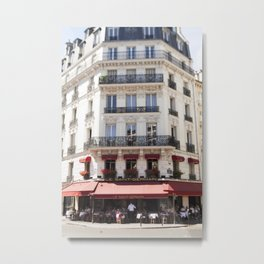 Lunch at Le Saint-Germain Metal Print