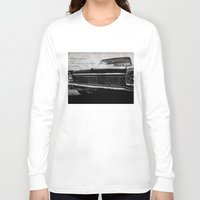 kerouac Long Sleeve T-shirts featuring Shiny Car in the Night by Bella Blue Photography
