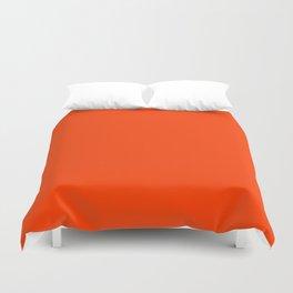 Tangy Solid Orange Pop Duvet Cover