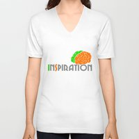 inspiration V-neck T-shirts featuring Inspiration by Todd Trotter