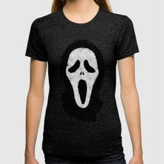 Scream Tri-Black Womens Fitted Tee SMALL
