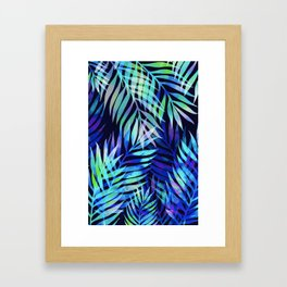 Watercolor palm pattern Framed Art Print