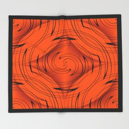 Tangerine Throw Blanket